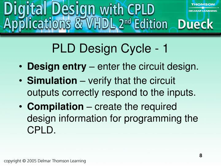 PLD Design Cycle - 1