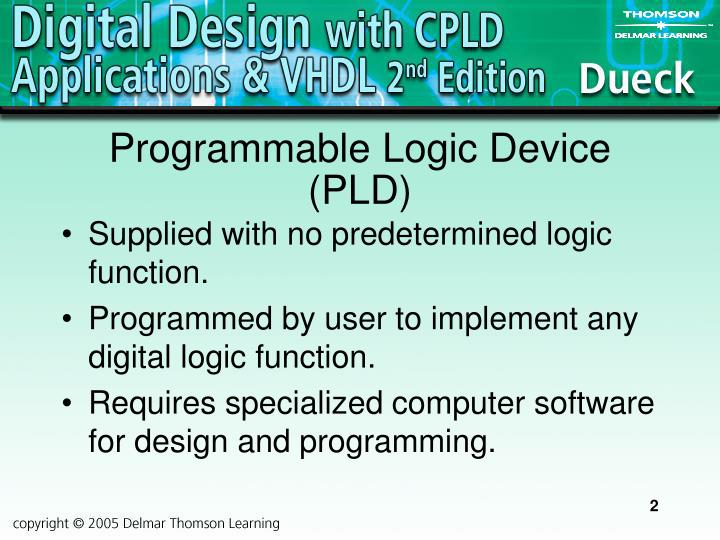 Programmable logic device pld