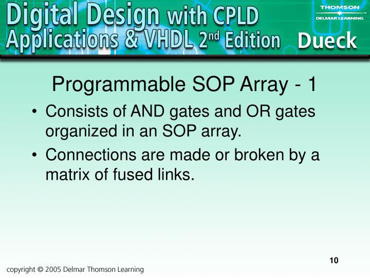 Programmable SOP Array - 1