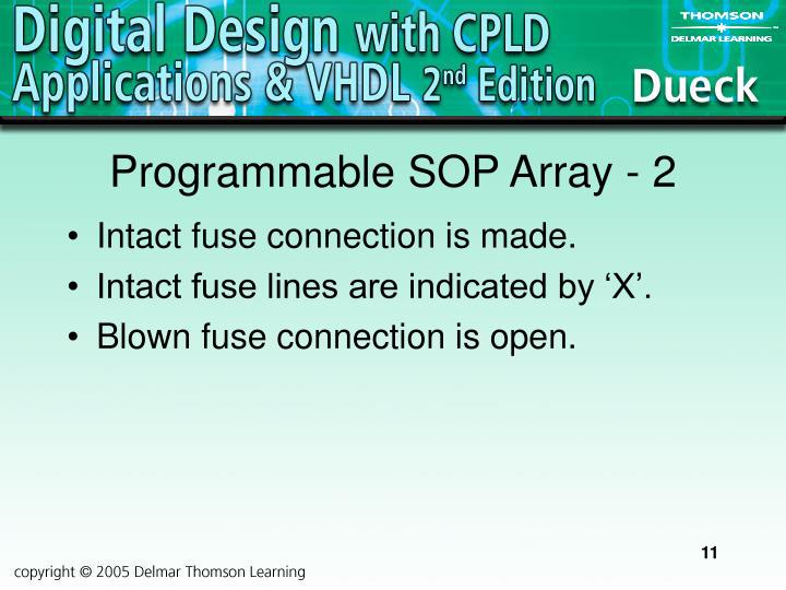Programmable SOP Array - 2