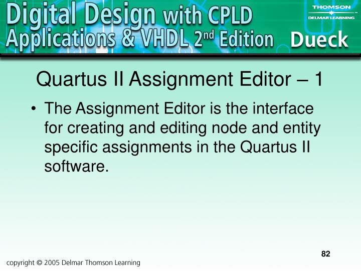 Quartus II Assignment Editor