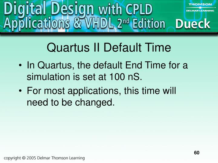 Quartus II Default Time