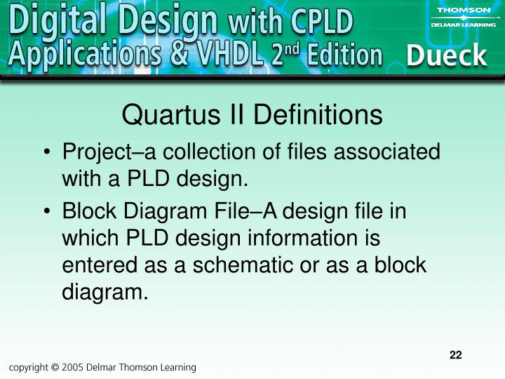 Quartus II Definitions