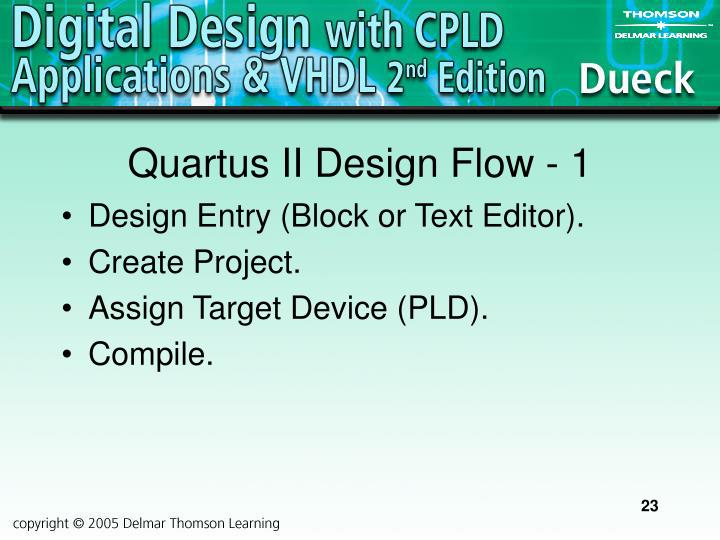 Quartus II Design Flow - 1