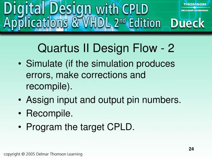 Quartus II Design Flow - 2