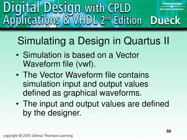 Simulating a Design in Quartus II