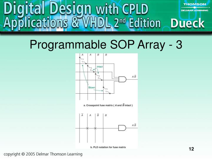 Programmable SOP Array - 3