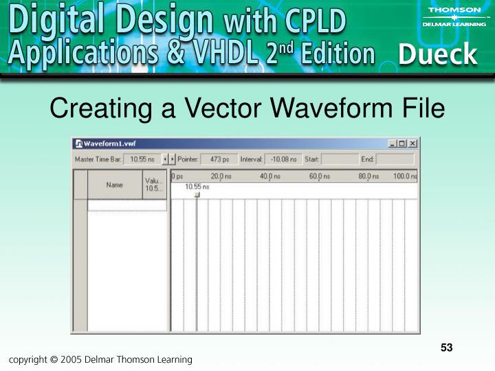 Creating a Vector Waveform File
