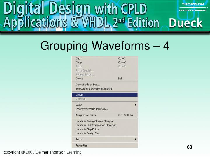 Grouping Waveforms