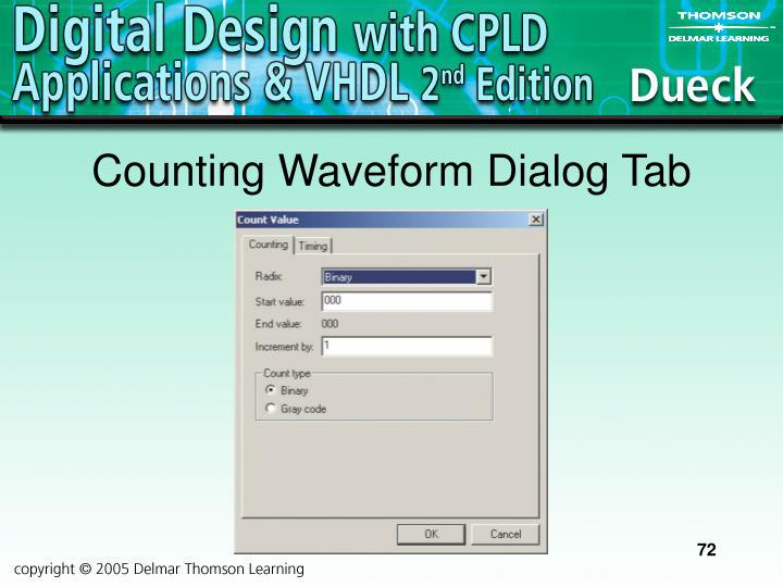 Counting Waveform Dialog Tab