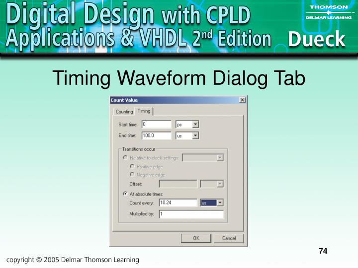 Timing Waveform Dialog Tab