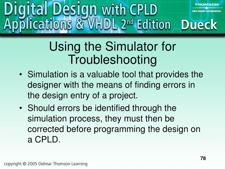 Using the Simulator for Troubleshooting