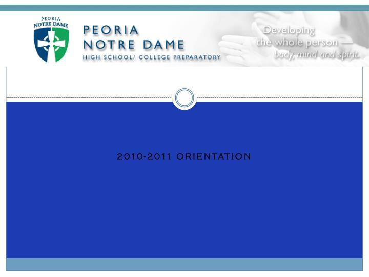2010 2011 orientation