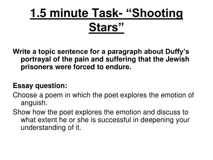 "1.5 minute Task- ""Shooting Stars"""