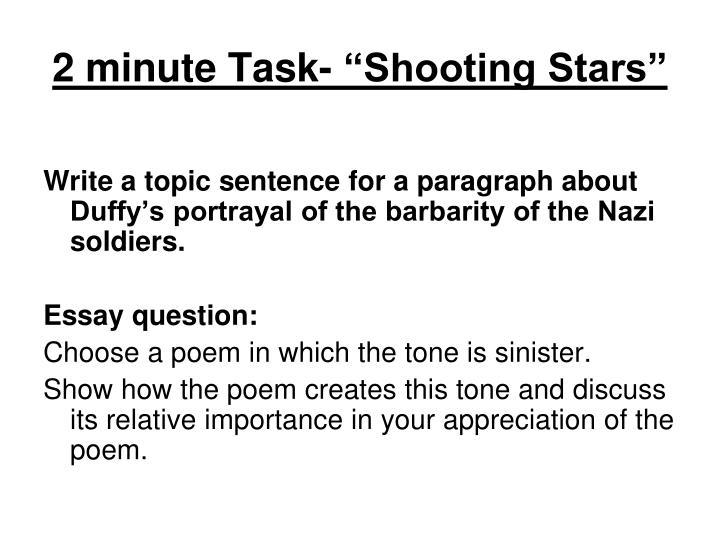 "2 minute Task- ""Shooting Stars"""