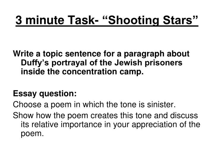 "3 minute Task- ""Shooting Stars"""