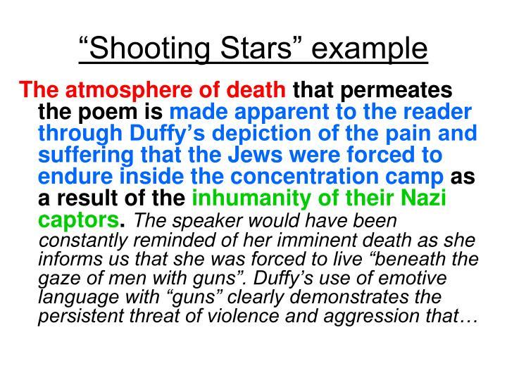 """Shooting Stars"" example"