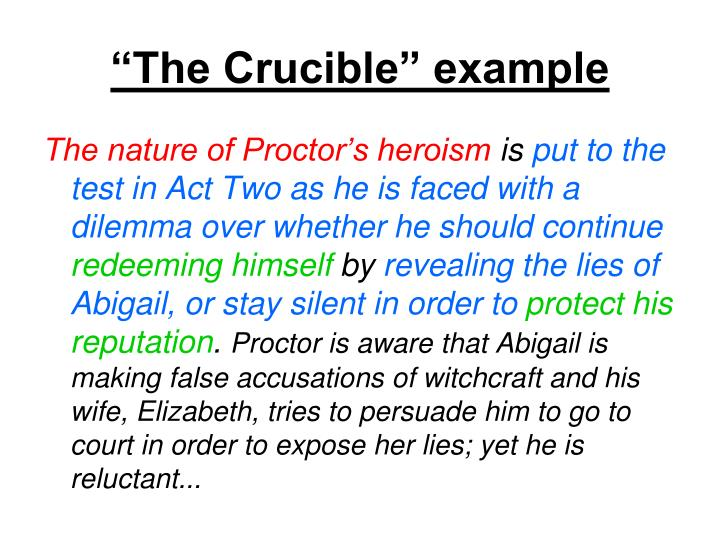 """""""The Crucible"""" example"""