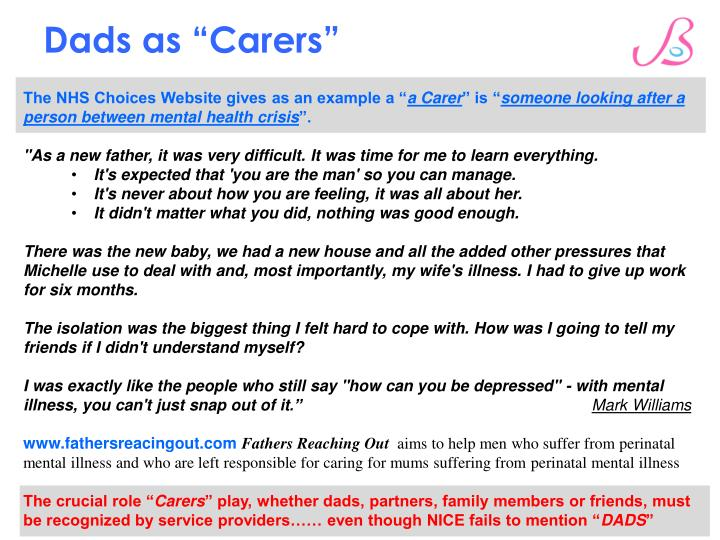 "Dads as ""Carers"""