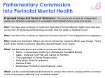 parliamentary commission into perinatal mental health