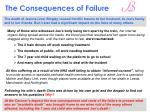 the consequences of failure