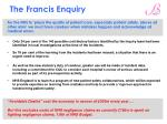 the francis enquiry