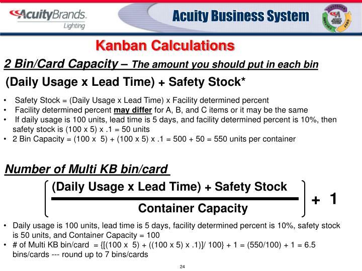 Kanban Calculations