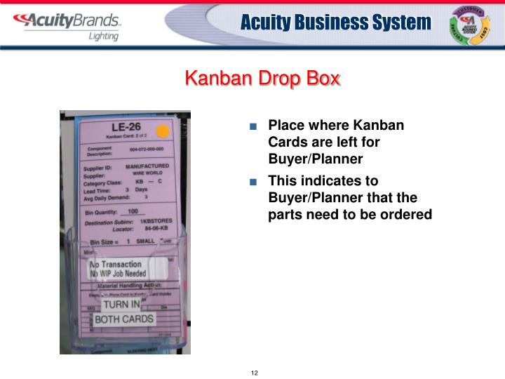 Kanban Drop Box