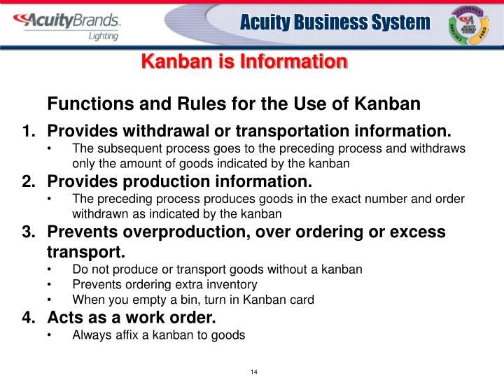 Kanban is Information