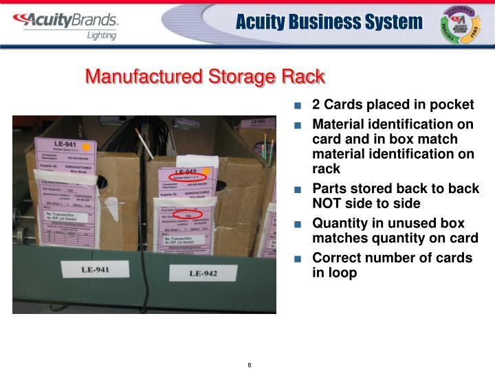 Manufactured Storage Rack