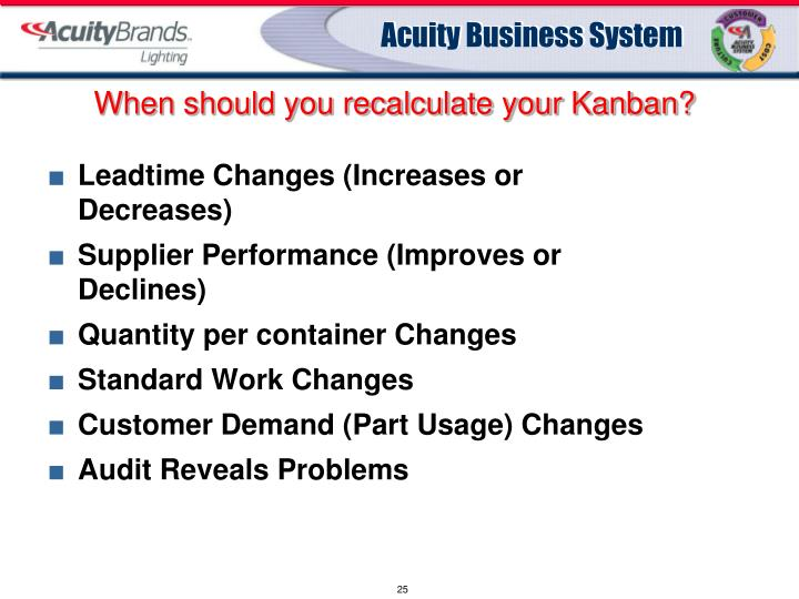 When should you recalculate your Kanban?