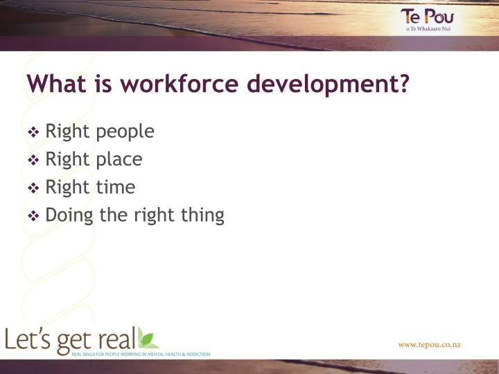 What is workforce development