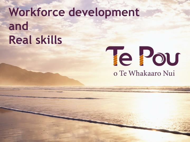 Workforce development and real skills