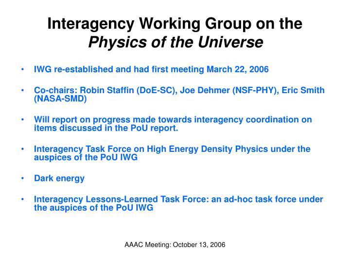 Interagency Working Group on the