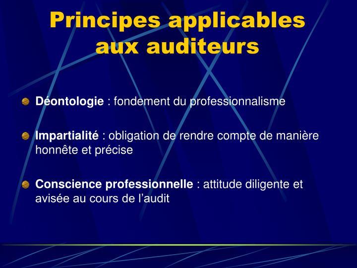 Principes applicables