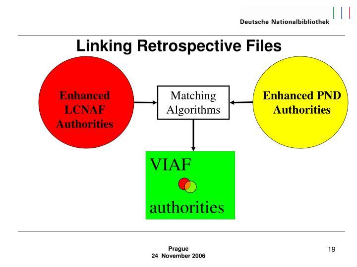 Linking Retrospective Files