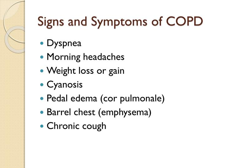 Signs and Symptoms of COPD