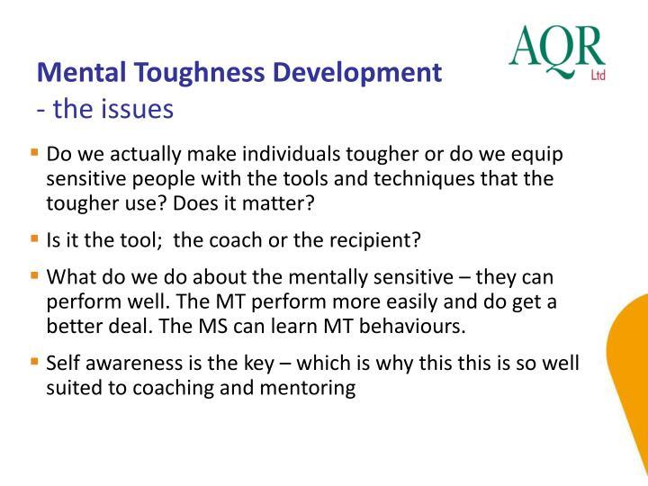 Mental Toughness Development