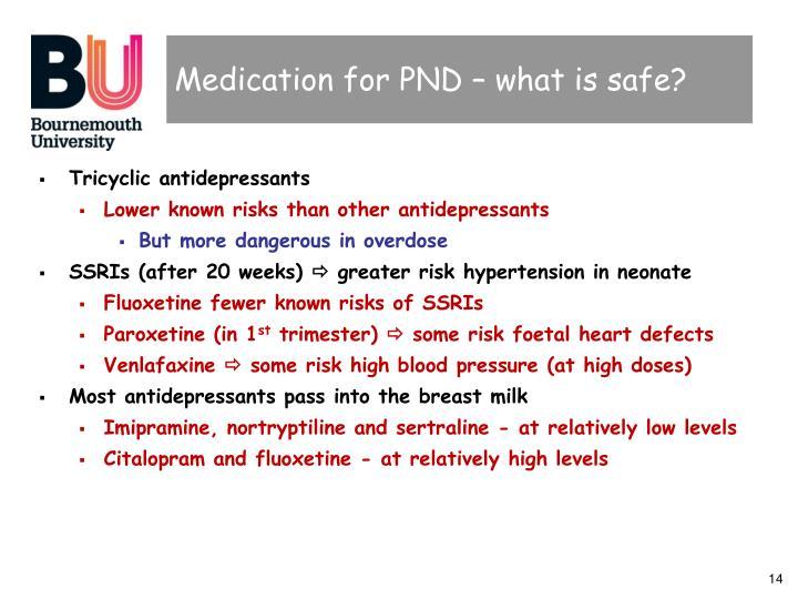 Medication for PND – what is safe?