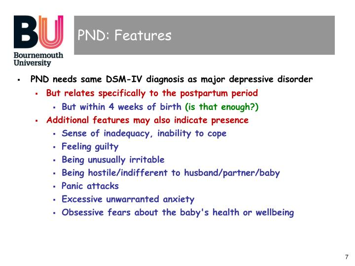 PND: Features