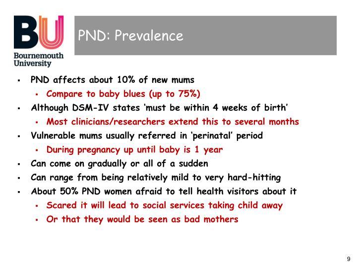 PND: Prevalence