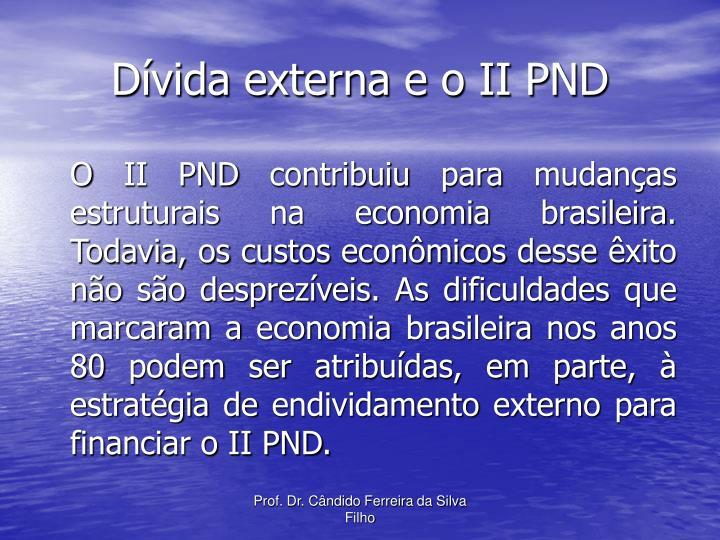 Dívida externa e o II PND