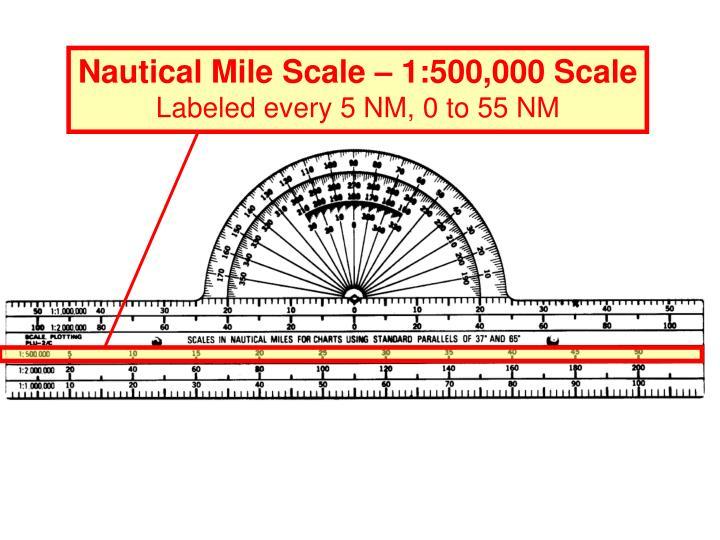Nautical Mile Scale – 1:500,000 Scale