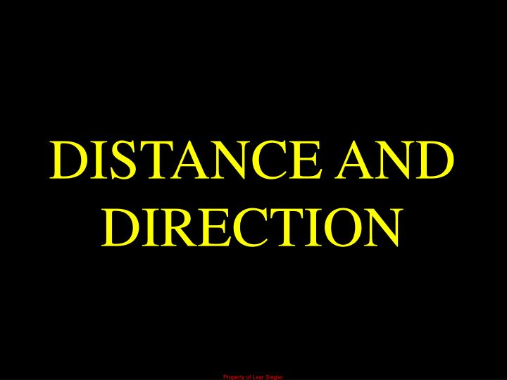 DISTANCE AND