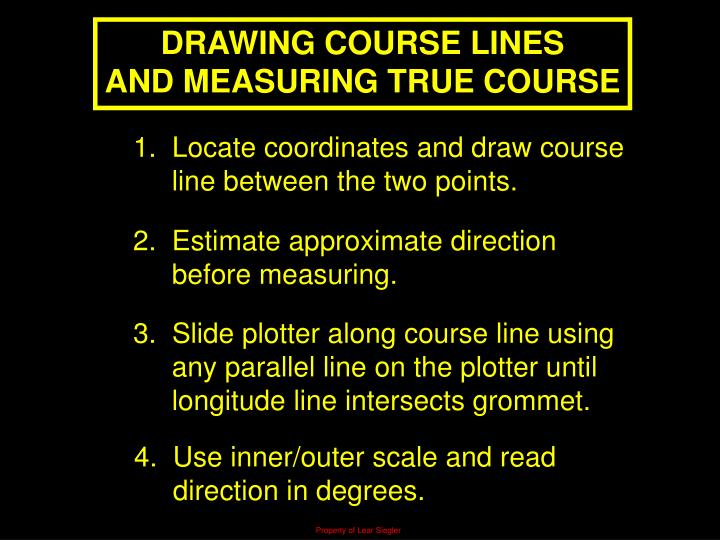 DRAWING COURSE LINES