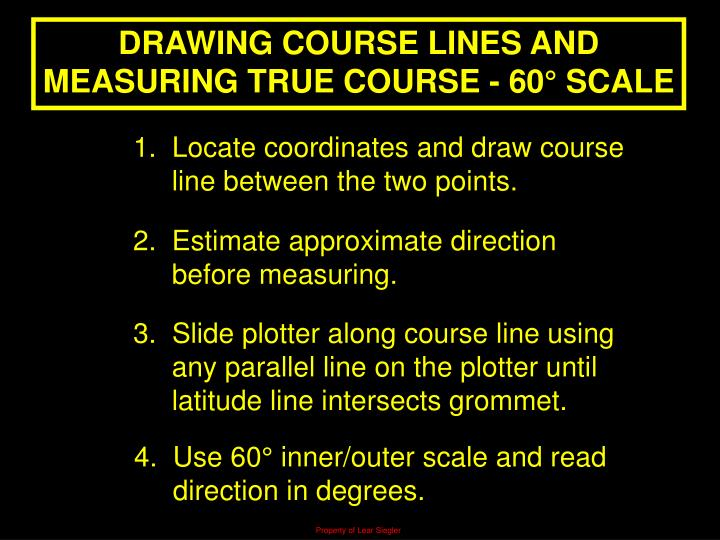 DRAWING COURSE LINES AND