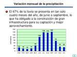variaci n mensual de la precipitaci n