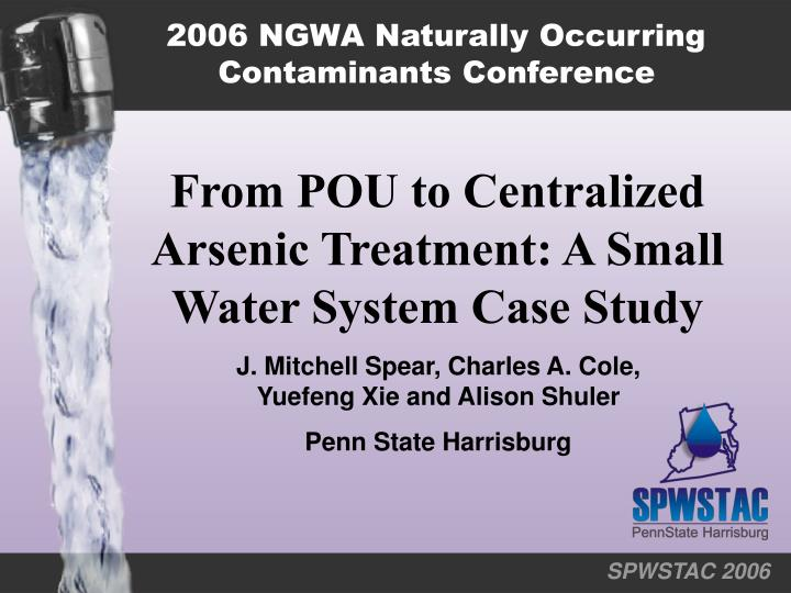 2006 NGWA Naturally Occurring Contaminants Conference