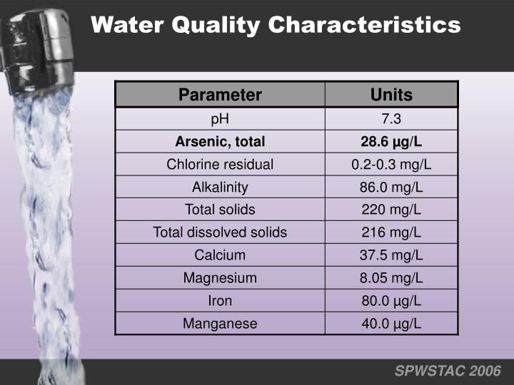 Water Quality Characteristics