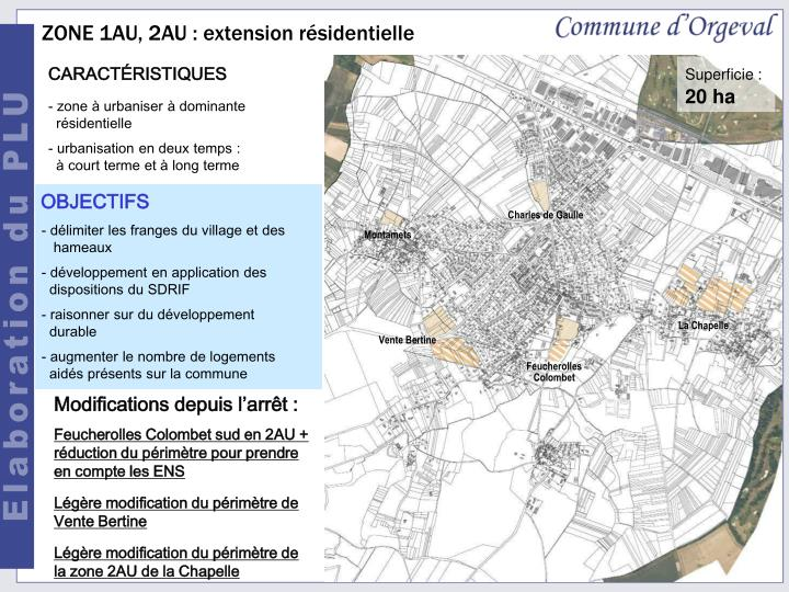ZONE 1AU, 2AU : extension résidentielle
